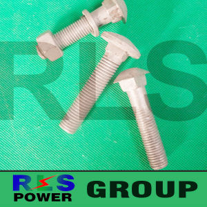 Hot DIP Galvanized Hex Bolt and Nut Overhead Power Fittings Cable Hardwares