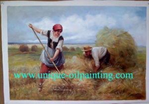 Oil Painting, Village Oil Paintings, Handmade Oil Painting
