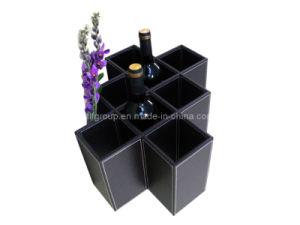 Hot Sale Unique Design Black Leather Wine Box (FG8019) pictures & photos