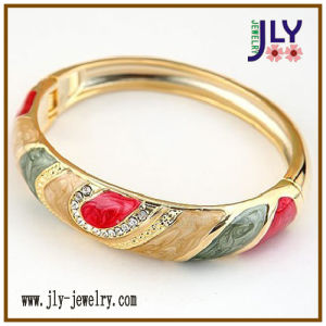 Wholesale Alloy Enamel Gold Plating Spring Fashion Jewelry Bracelet Bangle pictures & photos