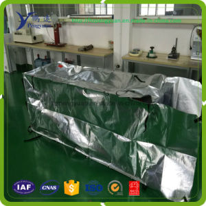 One Side MPET One Side Aluminum Foil Laminated with PE Woven Fabric for Container Liner pictures & photos
