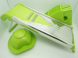 Grater Chopper Food Processor New S/S V Slicer Set