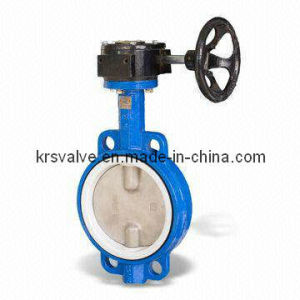 Wafer Type Without Pin PTFE Seat Butterfly Valve (WD371F-16ZB1)