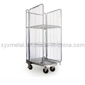 Exported Euro Style Metal Wire Mesh Roll Container pictures & photos