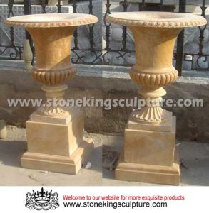 Marble Flower Pot, Marble Vase, Stone Flower Pot pictures & photos