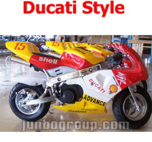 Pocket Bike with 49cc Pull Start Engine, Ducati Style Sticker (DR160)