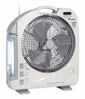 12inch Rechargeable Emergency AC/DC Fan with Light Radio, USB (292U)