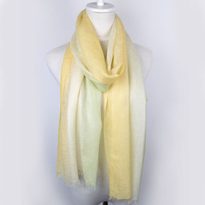 Cashmere Jacquard Dipped Dyeing Scarf pictures & photos