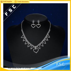 Fsc Fashion Bridal Jewelry Heart Shape Jewellery Set in Crystal pictures & photos
