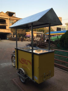 Customized 12/24V Solar Powered Refrigerator Freezer for Shipping Ice Cream pictures & photos