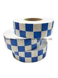 Blue/White Grid Design Reflective Conspicuity Tape (C3500-G) pictures & photos