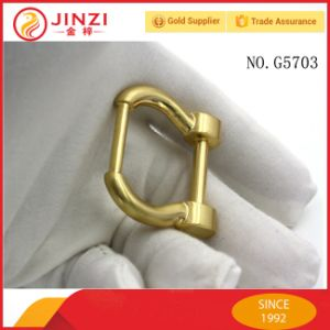 Horse Shoe Buckles Brushed Gold Color Buckle for Handbag pictures & photos