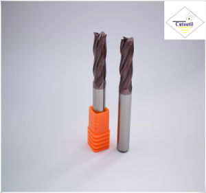 Cutoutil HRC45 Tialn Coating  D2.5*8*D4*50 2f/4f for Steel CNC Machining Part  Square Carbide End Mills Tools pictures & photos