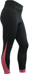 Women′s Knitted Pants with Allover Reflective Print on Inserted Fabric pictures & photos