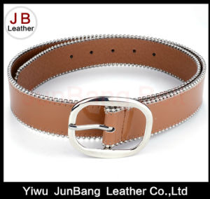 fashion Women PU Belt with Bradde Chain pictures & photos