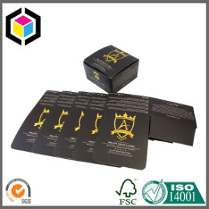 Gold Color Two Pieces Set up Folding Cardboard Paper Package Box pictures & photos