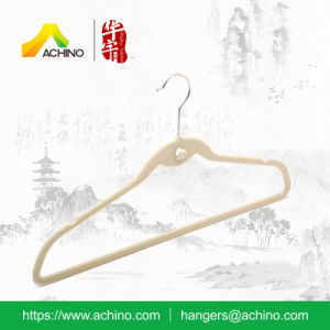 Non Slip Clothes Velvet Hanger with Cascading Hook (FSH103) pictures & photos