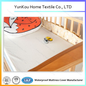Hypoallergenic Crib Waterproof Mattress Protector Bamboo Fiber pictures & photos