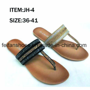 Latest Cheap Fashion Women Shoes Flip Flop Flat Sandals (JH16317) pictures & photos