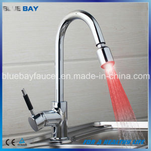 Top Seller Brass LED Pull out Kitchen Water Mixer pictures & photos