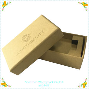 Kraft Paper Gift Box with Logo Silk Printing pictures & photos