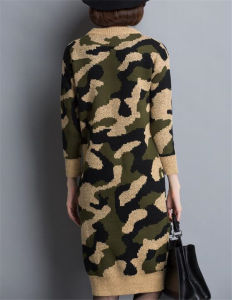 Korean O-Neck Camouflage Sweater Hoodies Knitting Dress pictures & photos