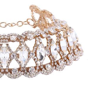 Fashion Luxury Glittering Full Rhinestone Collar Choker Necklace Jewelry pictures & photos