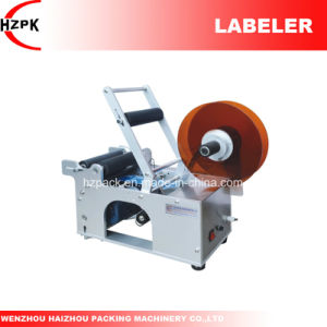 Semi-Auto Round Bottle Labeler Labeling Machine From China pictures & photos