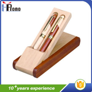 Wooden Pen Box with 2 Pens for Promotion