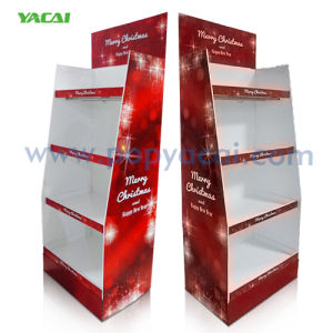 High Quality Cardboard Display, Cardboard Corrugated Floor Display Stand in Festival pictures & photos