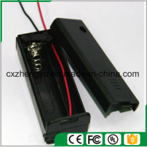 1AA Battery Holder with Red/Black Wire Leads, Cover and Switch pictures & photos