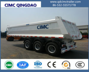 Cimc 3 Axle Tipper Trailer Semi Trailer Truck Chassis pictures & photos