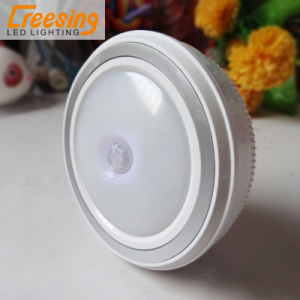 AAA Battery PIR Human Body Motion & Light Sensor LED Night Light Wireless Infrared Induction Lamp for Cabinet Bedside Hallway pictures & photos
