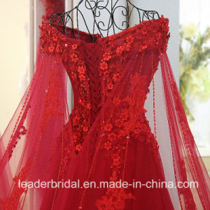 Red Prom Gown Lace Tulle Jeweled Party Evening Dresses E99921 pictures & photos