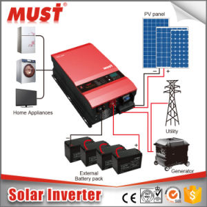 6000W Pure Sine Wave Solar Inverter Price pictures & photos