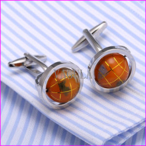 Silver Rotatable Earth Instrument Men′s Cufflink pictures & photos