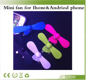 Mini 2 in 1 Portable Micro USB Fan Hand Fan for iPhone 5 5s 6 6s Plus Hand Fans for Samsung HTC Sony Android OTG USB Gadget