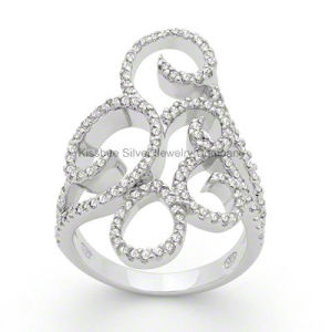 925 Silver Jewellery Luxury Style Lady′s CZ Ring (KR3047) pictures & photos