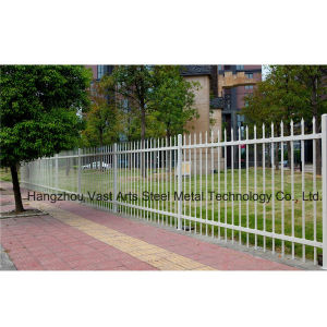 Haohan Cheap Simple Residential Garden Security Galvanized Steel Fence 35 pictures & photos