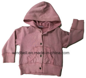 Princess Fleece Sweat Hoody for Girl with Handmade Flower pictures & photos