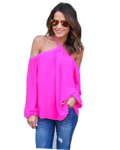 2017 Hot Sale Women off Shoulder Sexy Chiffon T-Shirts (17203) pictures & photos