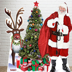 High Quality Vintage Christmas Cardboard Standee for Display Decoration pictures & photos