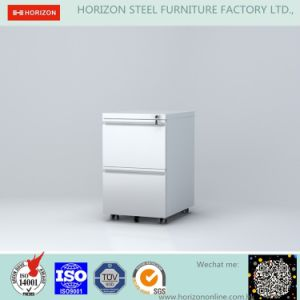 Steel Movable Cupboard Metal Furniture with 3 Drawers and 5 Wheels Pedestal/Mobile Drawer Unit pictures & photos