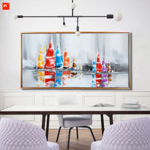 Abstract Handmade Canvas Painting for Sailing Race pictures & photos