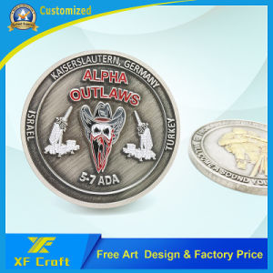 Professional Custom Metal Souvenir Money Coins in China Factory (XF-CO24) pictures & photos