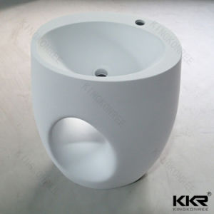 Art Design Solid Surface Stone Bathroom Pedestal Basin (B171128) pictures & photos