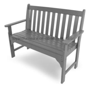Traditional American Style Vineyard Outdoor Garden Polywood Wooden 3 Seater Park Bench (P232) pictures & photos