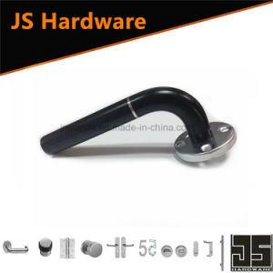 Hot Sale Black Door Lever Handle with Silver Line pictures & photos