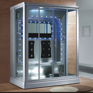 1600mm Rectangle Gray Steam Sauna with Shower for 2 Persons (AT-0219) pictures & photos