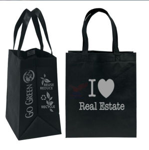 China Facotry Cheap Custom Logo Shopping Bag Folded Non-Woven Bag pictures & photos